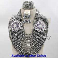 crystal bridal necklace sets images Royal blue nigerian wedding bridal jewelry set chunky african jpg