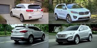 kia sorento vs hyundai santa fe benim otomobilim 2016 kia sorento vs 2015 hyundai santa fe sport