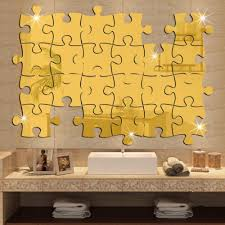 Home Design Building Blocks by Puzzle Labyrinth Decal Art Decals Silver Gold Wall Stickers