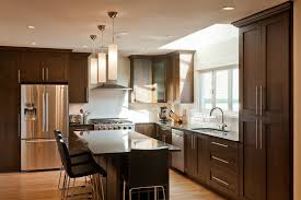 frosted glass kitchen cabinets kitchen contemporary with dark wood