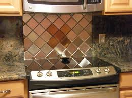 Copper Backsplash Kitchen Kitchen Modern Stainless Steel Copper Backsplash Tiles With