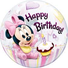 minnie mouse 1st birthday disney minnie mouse 1st birthday balloon qualatex