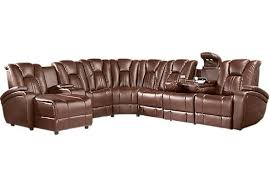 Kingvale Power Recliner Cindy Crawford Home Salina Brown 3 Pc Power Reclining Sectional