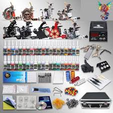 tattoo kit without machine dragon complete tattoo kit 9 machine guns 40 ink equipment needle