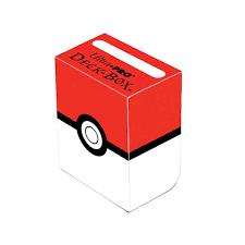 pokemon ultra pro u0027pokeball u0027 red and white deck box zing pop
