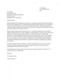 teacher cover letter sample substitute teacher cover letter