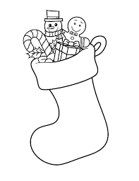 draw christmas stockings coloring pages netart