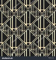 Art Deco Style Vector Seamless Pattern Art Deco Style Stock Vector 455809648