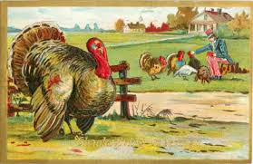 thanksgiving day vintage postcards