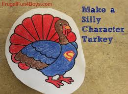 make a silly character turkey thanksgiving