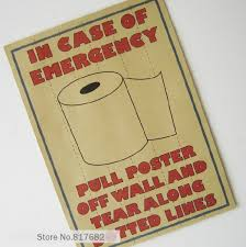 Toilet Paper Funny Aliexpress Com Buy Vintage Posters Painted Toilet Necessary