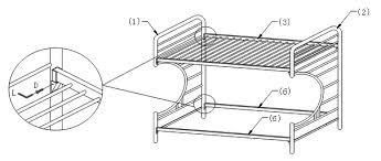 Assembling A Bed Frame Assembly Of C Style Futon Bunk Bed How To