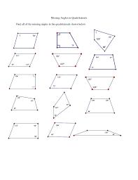find the missing angle measure worksheet worksheets