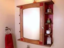 Wood Bathroom Medicine Cabinets With Mirrors Bathroom Contemporary Brown Wood Rectangle Laminated Glass