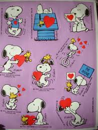 free 1965 snoopy woodstock valentine stickers hallmark charlie
