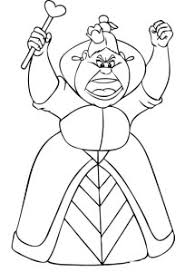 queen hearts alice wonderland coloring pages dragoart