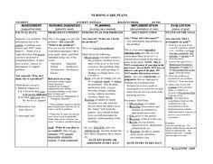 good nursing home care plans examples sample nursing care plan for
