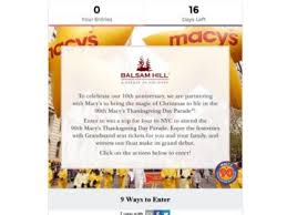 balsam hill win a trip to macy s thanksgiving day parade sweepstakes