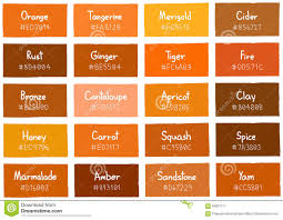 different shades of orange names clanagnew decoration
