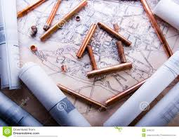 building plans stock photography image 4696102