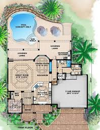 luxury house plans with pools house plans cottage house plans