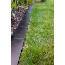 buy black metal brick style lawn edging 12 x 24cm at guaranteed