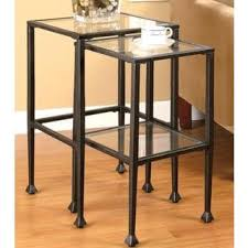Metal And Glass Coffee Table Harper Blvd Metal And Glass Square Cocktail Table Free Shipping