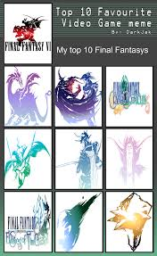 Final Fantasy Memes - top 10 final fantasy by salem the psychic on deviantart