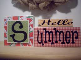 summer block letters hello summer blocks summer home decor