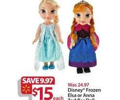 best toddler toy deals black friday disney frozen elsa or anna toddler doll deal at walmart u0027s black