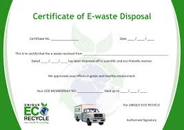 19 certificate of disposal template west coast recycler secure
