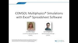 Spreadsheet Software List Using Excel With Comsol Multiphysics Simulations