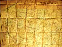 State Of Pennsylvania Map by Pennsylvania In Early Pocket Maps