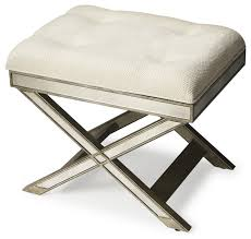 Silver Vanity Chair Butler Marlo Mirrored Vanity Stool Silver Transitional Vanity