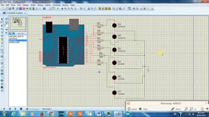 Led Blinking Circuit Diagram Arduino Led Blinking Knight Rider Project In Proteus 8 Isis