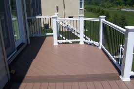 Ideas For Deck Handrail Designs Exterior Casual Deck Design Idea Using Black Wood Deck Floor