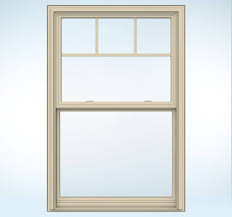 Jeld Wen Premium Vinyl Windows Inspiration Almond Trimmed Window With Craftsman Details Builders Vinyl V