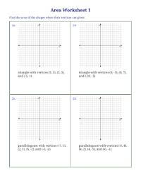 free worksheets for area of triangles quadrilaterals and other