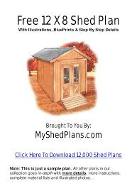shed plans free 12 x 8 shed plans free