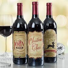 personalized merry wine bottle labels