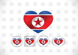 Korea Flag Image North Korea Flag In Shape Of Heart Royalty Free Vector Clip Art