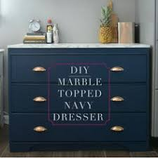 Dresser Diy Navy Painted Dresser Added Legs And Copper Diy Drawer Pulls