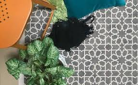 Diy Area Rug Stenciled Rug Adds Excitement And Design To A Boring Deck Hometalk