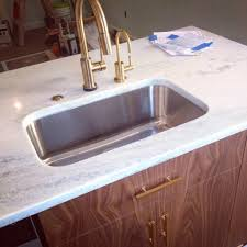 the faucet is delta u0027s trinsic in champagne bronze we chose it