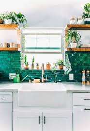 green tile kitchen backsplash green and copper kitchen tile backsplashes copper