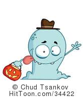 cute halloween ghost clipart image ghost clipart 226831 cute halloween ghost wearing a purple witch