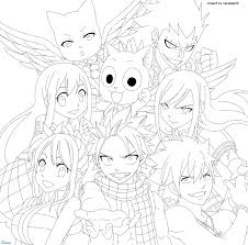 fairy tail coloring pages fairy tail manga coloring pages free