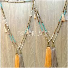 bead necklace with tassel images Mala wooden beads necklace tassel pendant charms mala wooden jpg