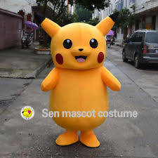 Halloween Mascot Costumes Brand Pokemon Pikachu Mascot Costume Cosplay Game Halloween