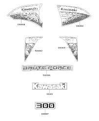 2013 kawasaki brute force 300 kvf300cdf decals f red cdf parts